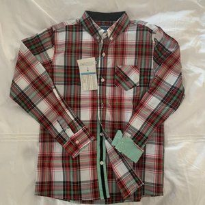 Boys dress shirt holiday plaid Andy & Evan, 11-12